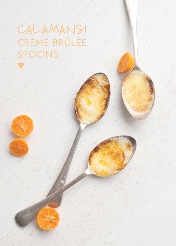 When life Cherrie gives you lemons calamansi, you make crème brûlée. I mentioned in a previous post that calamansi is one of my current obsessions. Whilst there are many things you can do with them, I decided it was time to make something delicious with them. I've been wanting to makecrème brûlée spoons for ages....