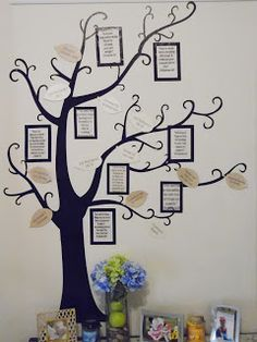 Prayer tree with framed Bible verses, answered prayers and