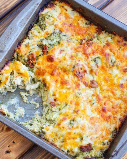 Loaded Cauliflower Broccoli Casserole Recipe | Yum