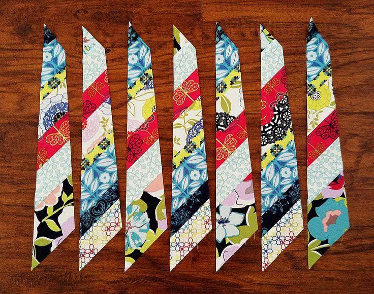 Feather cutting tutorial [for Anna Maria Horner's pattern http ... : anna maria horner feather quilt - Adamdwight.com