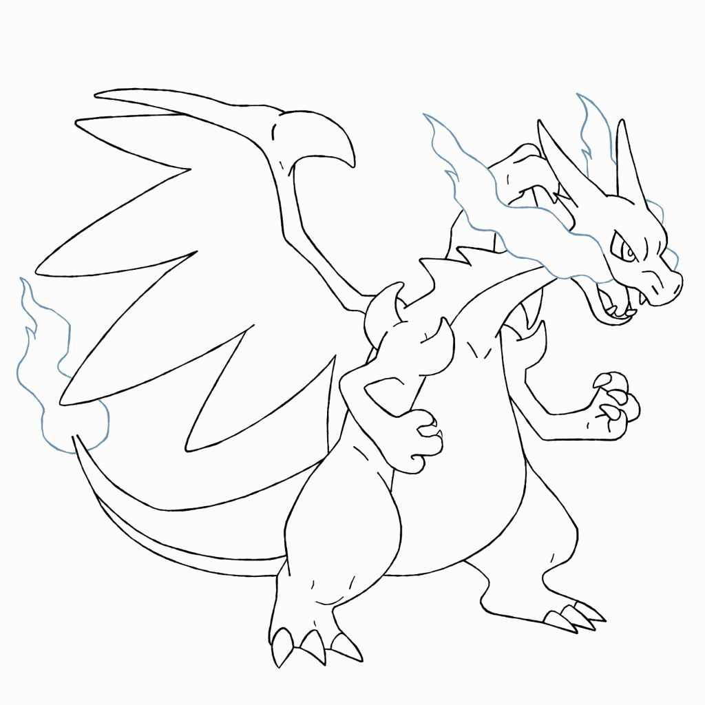 Charizard X Coloring Pages Coloring