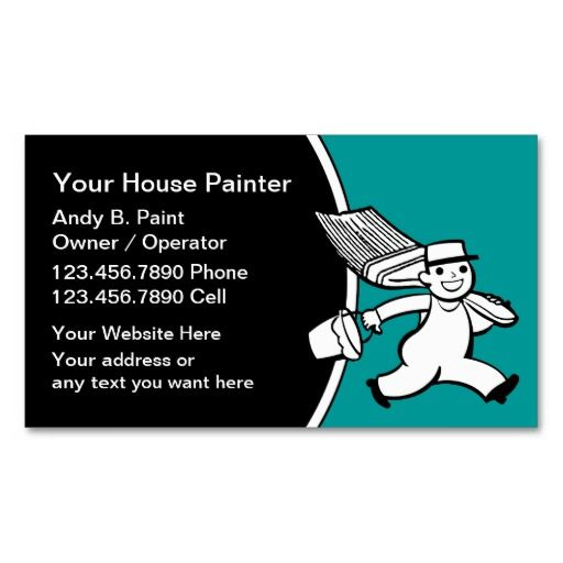 Retro Painter Business Cards Painter Business Cards Pinterest - Painter business card template