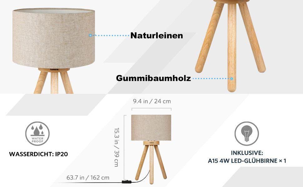 Tomons Nachttischlampe Minimalistischer Stil Geeignet Fur Schlafzimmer Mit Warmer Gemutlicher Atmosphare 4 W Led Lampe Nachttischlampe Minimalistischer Stil