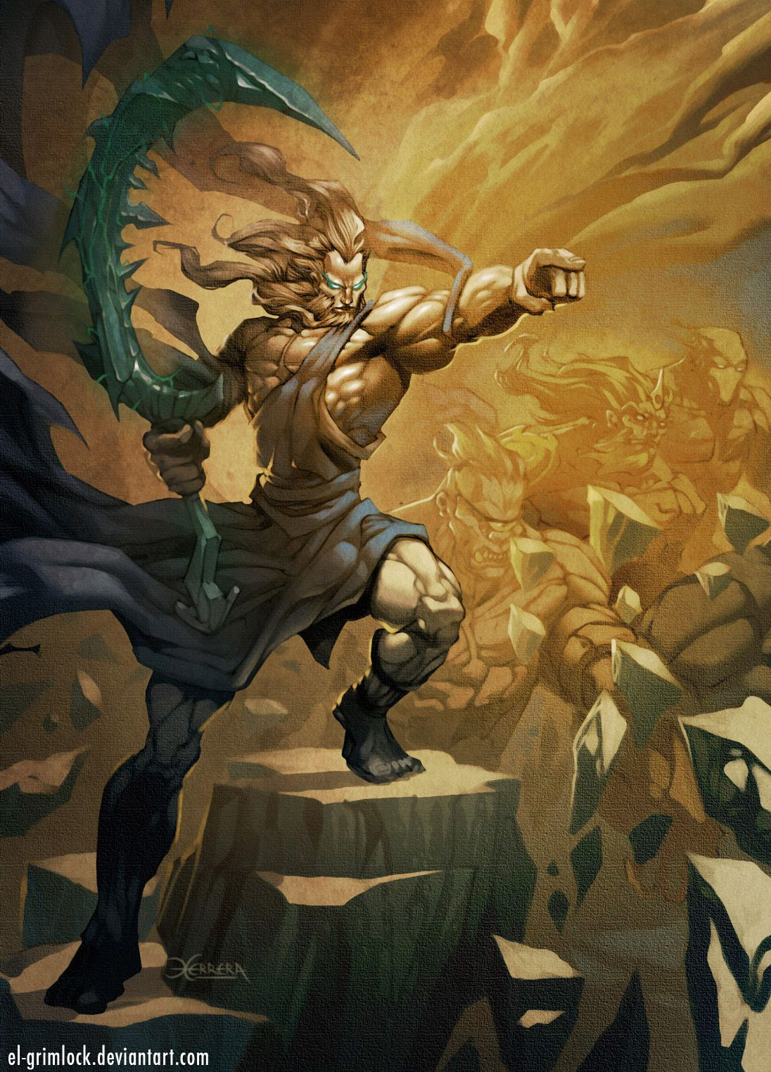 Younger titan Kratos: mythology and its place in it 27