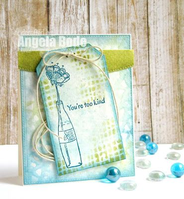 Another beautiful card by Angela Bode--we love what she does with ColorBox Pigment inks!