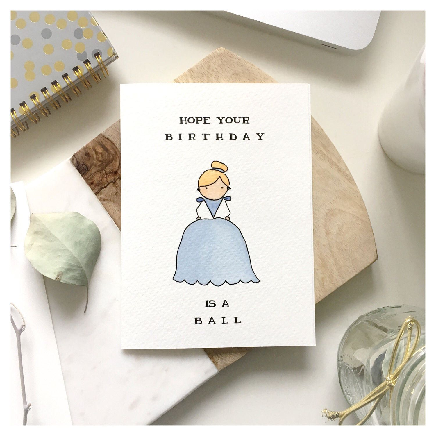 C I N D E R E L L A // Birthday Card, Cinderella Birthday