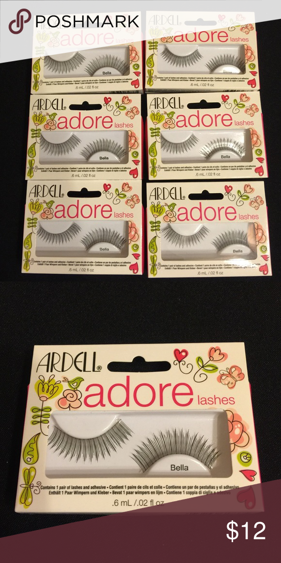 d511300fee8 Ardell Adore Fashion Lashes Bella 6 Pair Clean your eyelashes and eyelids  so they are make