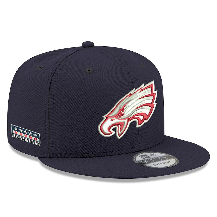 Men s Philadelphia Eagles New Era Navy Crafted in the USA 9FIFTY Adjustable  Hat 97a5e2d10242
