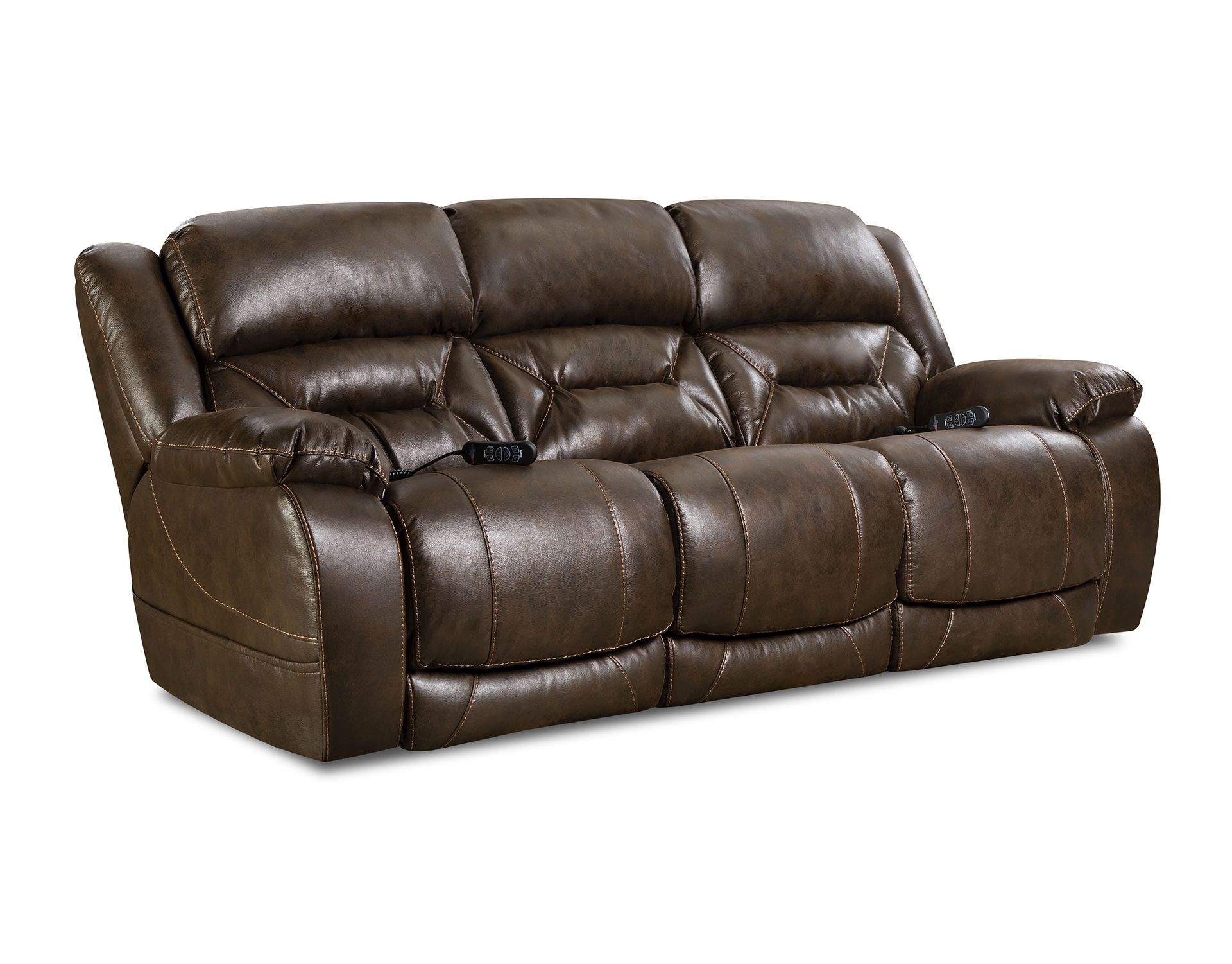 Double Reclining Power Sofa From Homestretch Power Reclining
