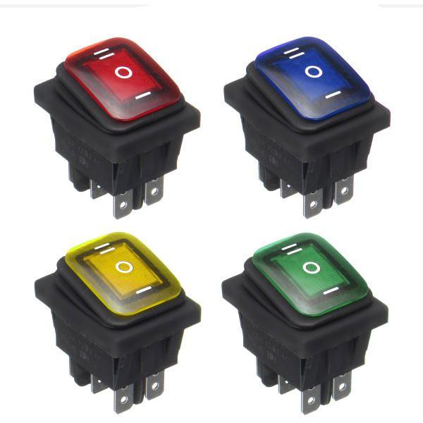 12v 6 Pin Led Light Rocker Toggle Switch Latching Momentary Rocker Switch