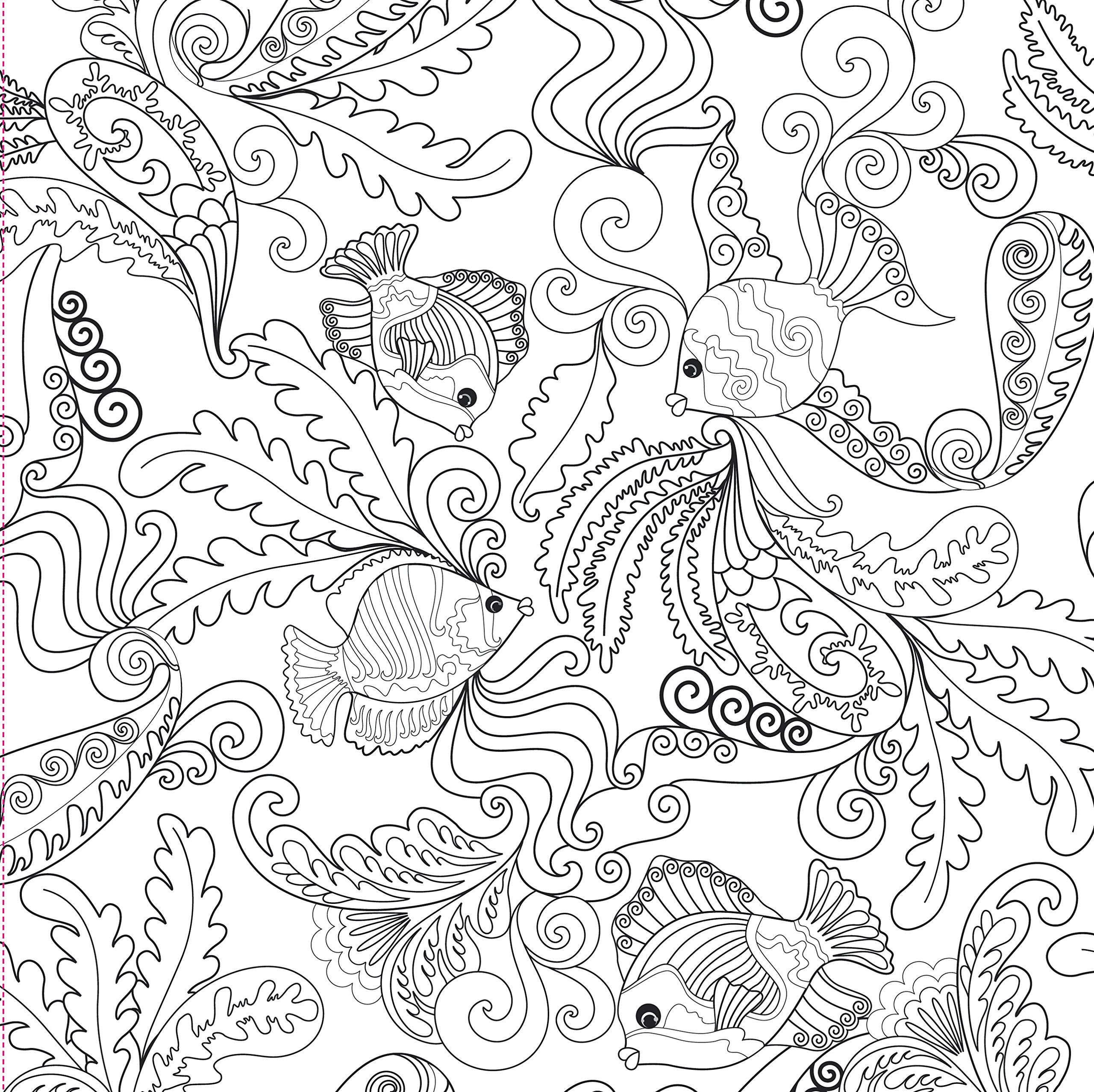 Ocean Designs Adult Coloring Book 31 Stress Relieving Studio