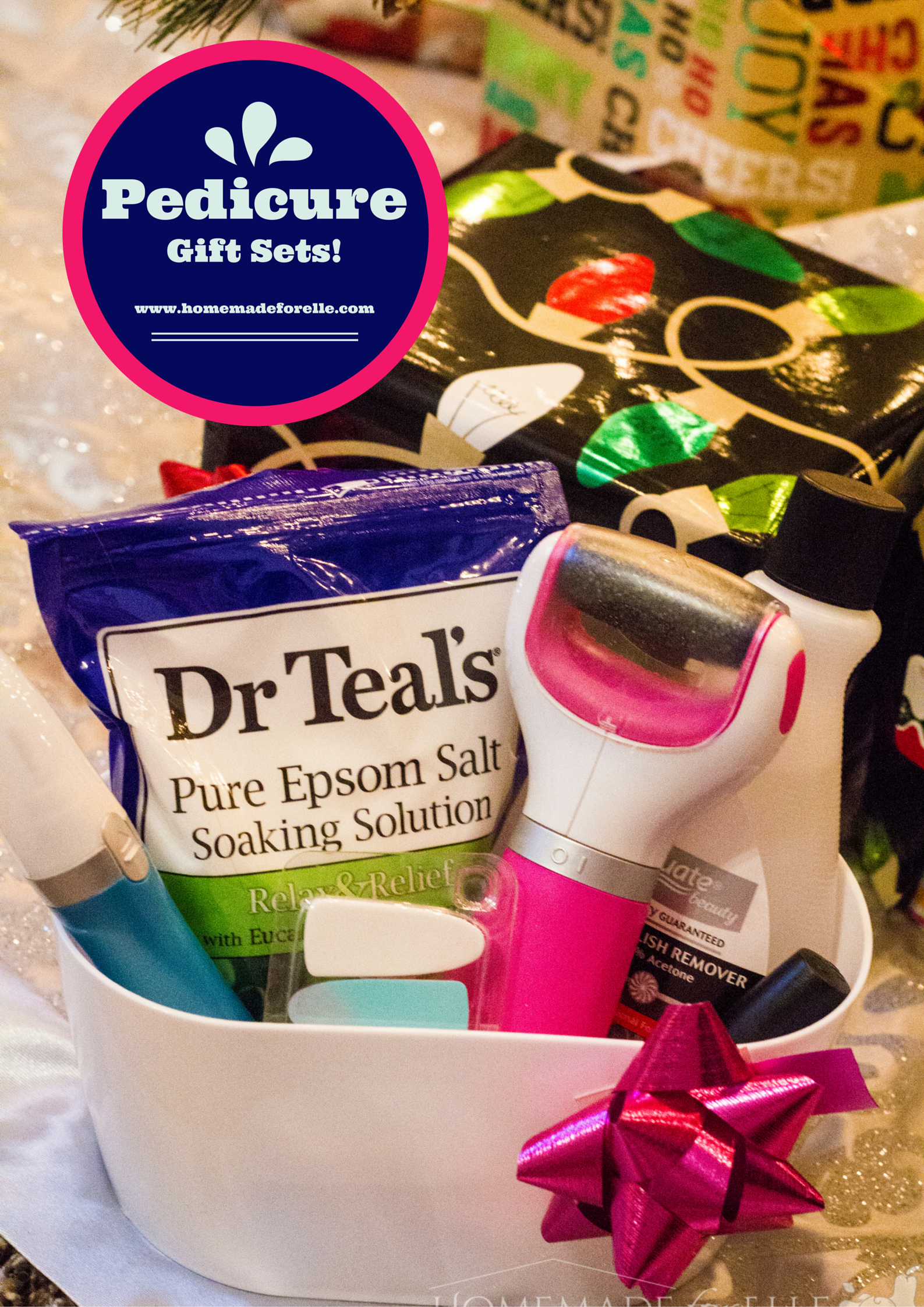 Pedicure Gift Sets | homemadeforelle.com #Amope #ad #IC