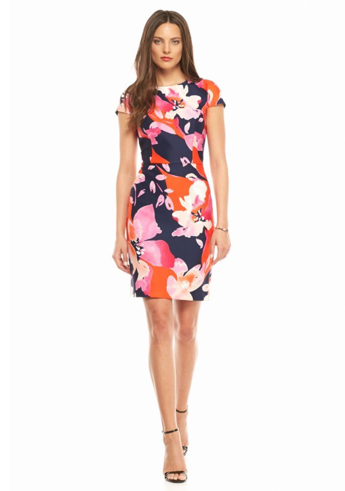 Vince Camuto Floral Scuba Sheath Dress - Belk.com | Weddings ...