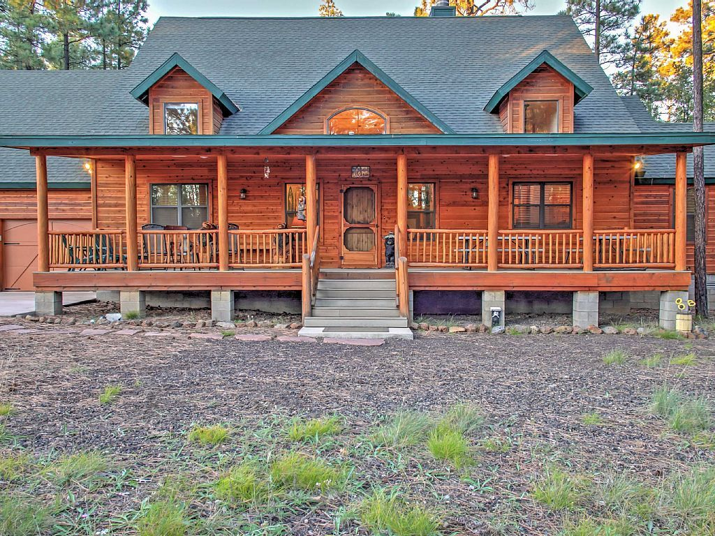 adair springs rental view rentals cabin in pinetop homeaway of front cabins vacation