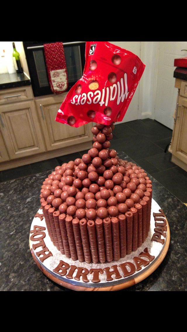 Malteser Chocolate Birthday Cake For Lovers