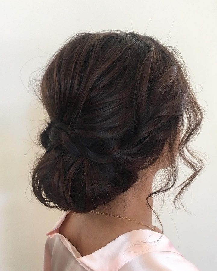 Loose Updos Pretty Messy Wedding Updo Hairstyle Updo Hairstyle Messy Wedding Hairstyles For Long Hair Hair Styles Medium Hair Styles Messy Wedding Hair