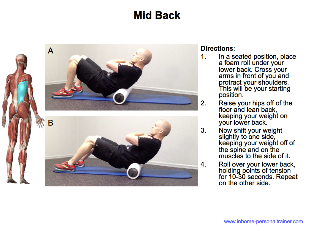 how to fix middle back pain