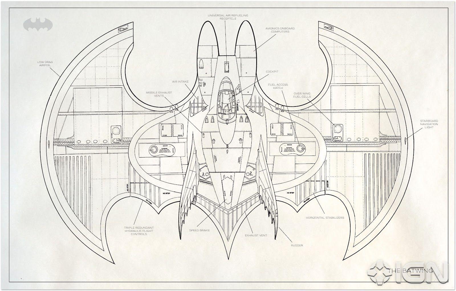 tim burtons batwing blueprint blueprints pinterest