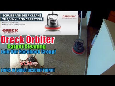 Oreck Orbiter 550MC Commercial Cleaning Carpets! YouTube