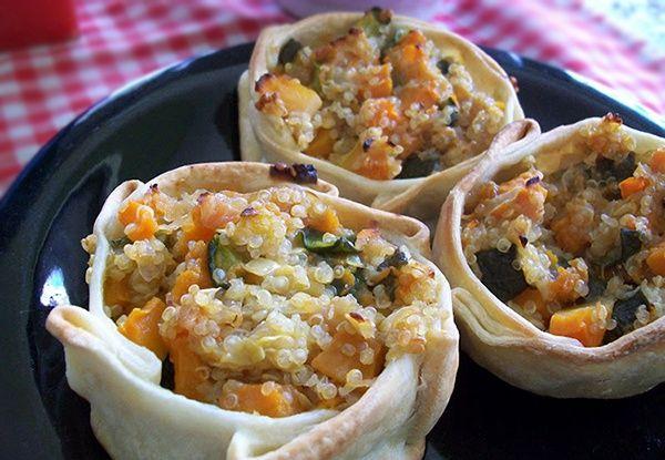 canastas veganas de quinoa y vegetales recetas veganas