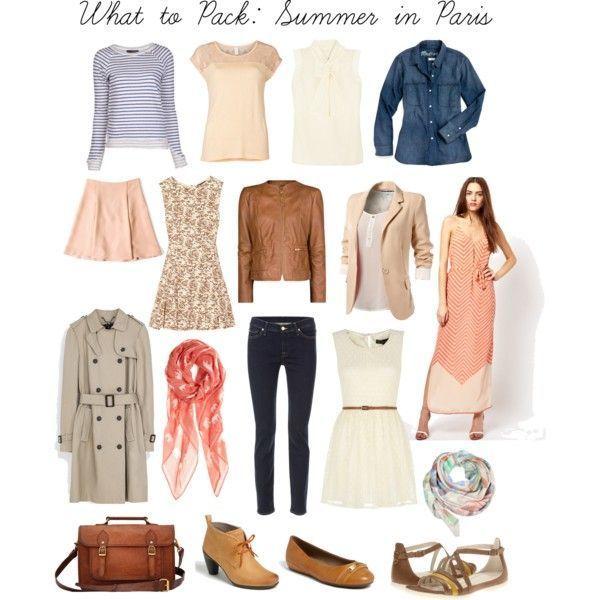 basic wardrobe summer 5 day trip capsule in paris france