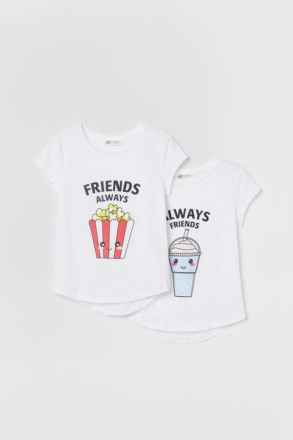 Photo of To-pakke Best Friends Topper – Hvit / popcorn – Barn | H&M USA