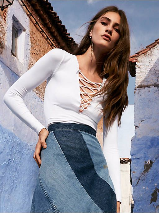 Free People Lace Up Layering Top, $58.00