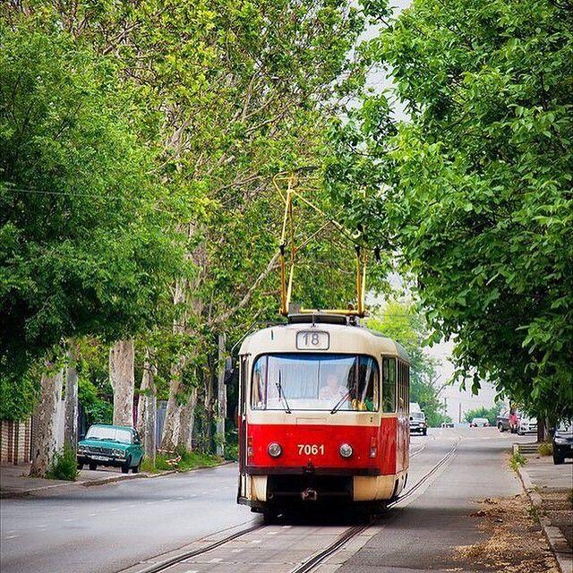 """""""Симпатичный одесский трамвайчик из паблика любителей трамваев by @tramvaynaya.bolezn"""""""