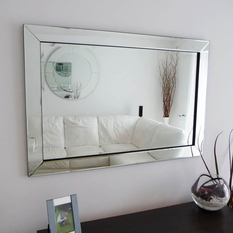 Glass Framed Mirror Mitred Corners 120 x 80 cm | Cowboy builders ...
