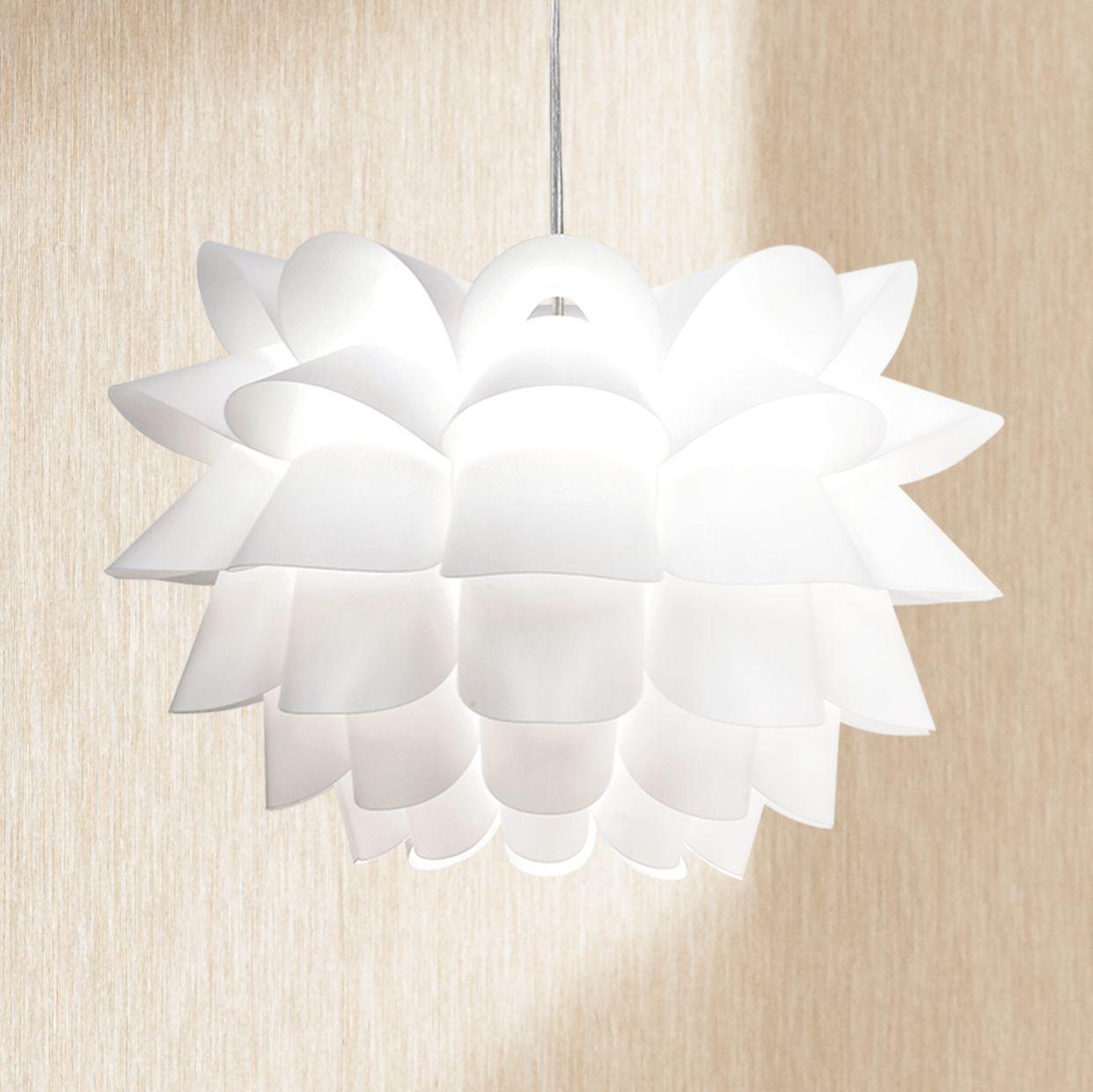 Possini Euro Design White Flower Acrylic Pendant Chandelier
