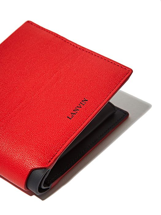 Mens Leather Coin Tray Wallet Gents Purse Men Red
