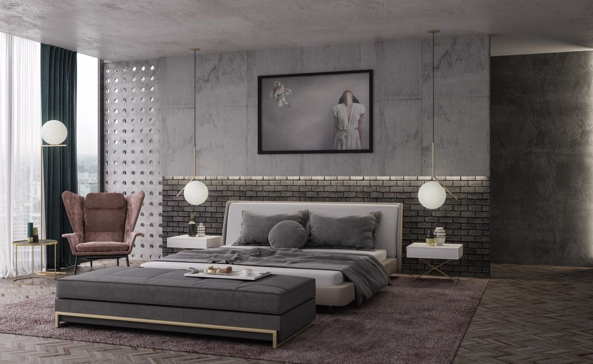 Industrial Style Bedroom Design The Essential Guide Loft Style