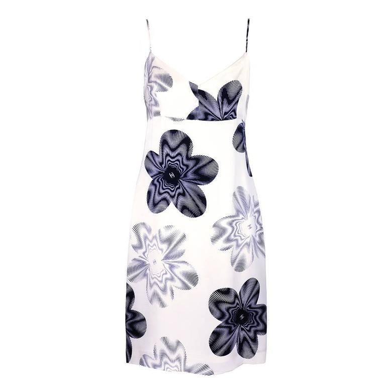 1990s Chanel Satin Mini Dress 1