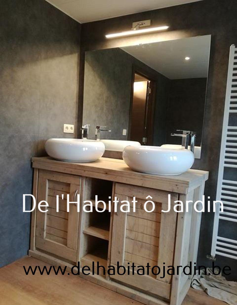 Habitat Meuble De Salle De Bain meuble en bois massif, meuble diy, bois, décoration, lattage