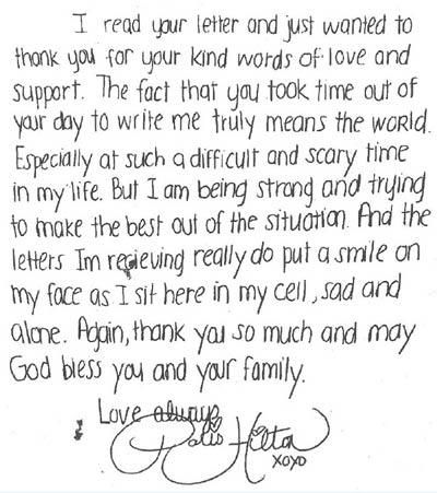 love letters to your boyfriend handwritten letter of paris hilton from prison and letter of