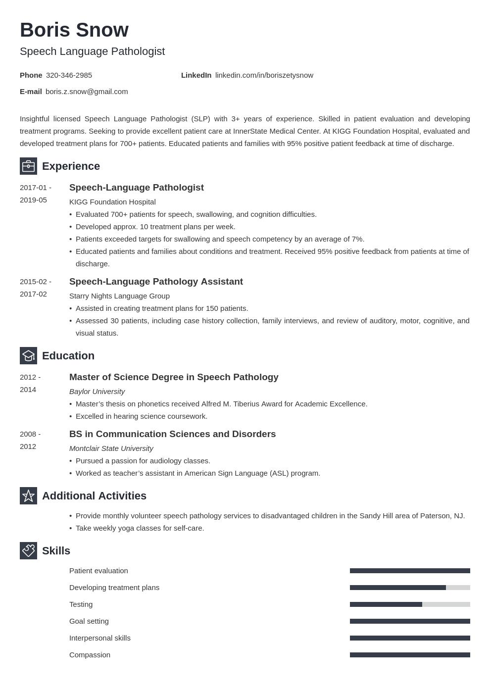 Speech Pathologist Resume Example Template Newcast Resume Examples Job Resume Examples Speech And Language
