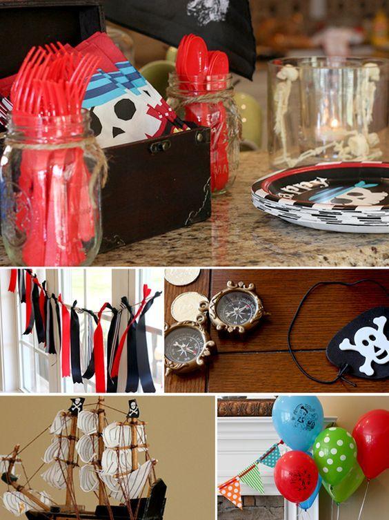 Les idées pour un goûter d'anniversaire Pirate | Anniversaire pirate, Jeux de fête d ...