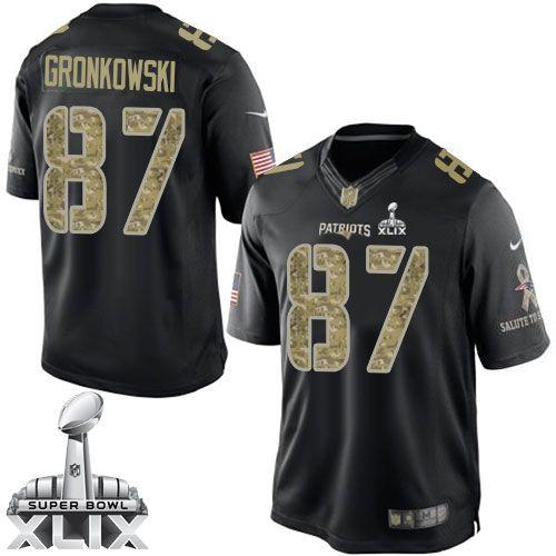 nfl new england patriots rob gronkowski mens limited black 87 super bowl xlix jersey