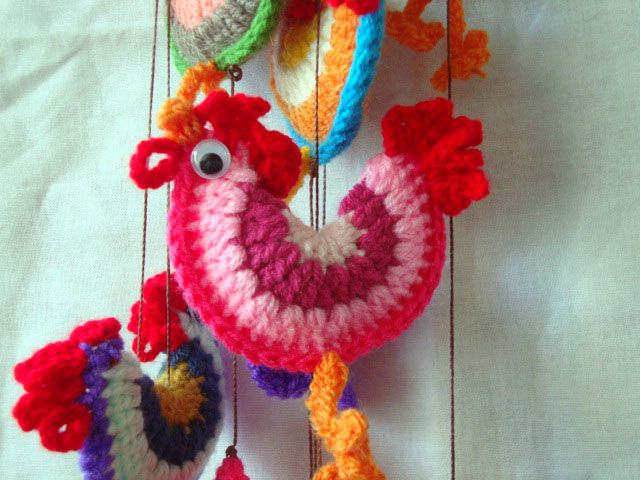 Gallitos Coloridos, $35 en http://ofeliafeliz.com.ar