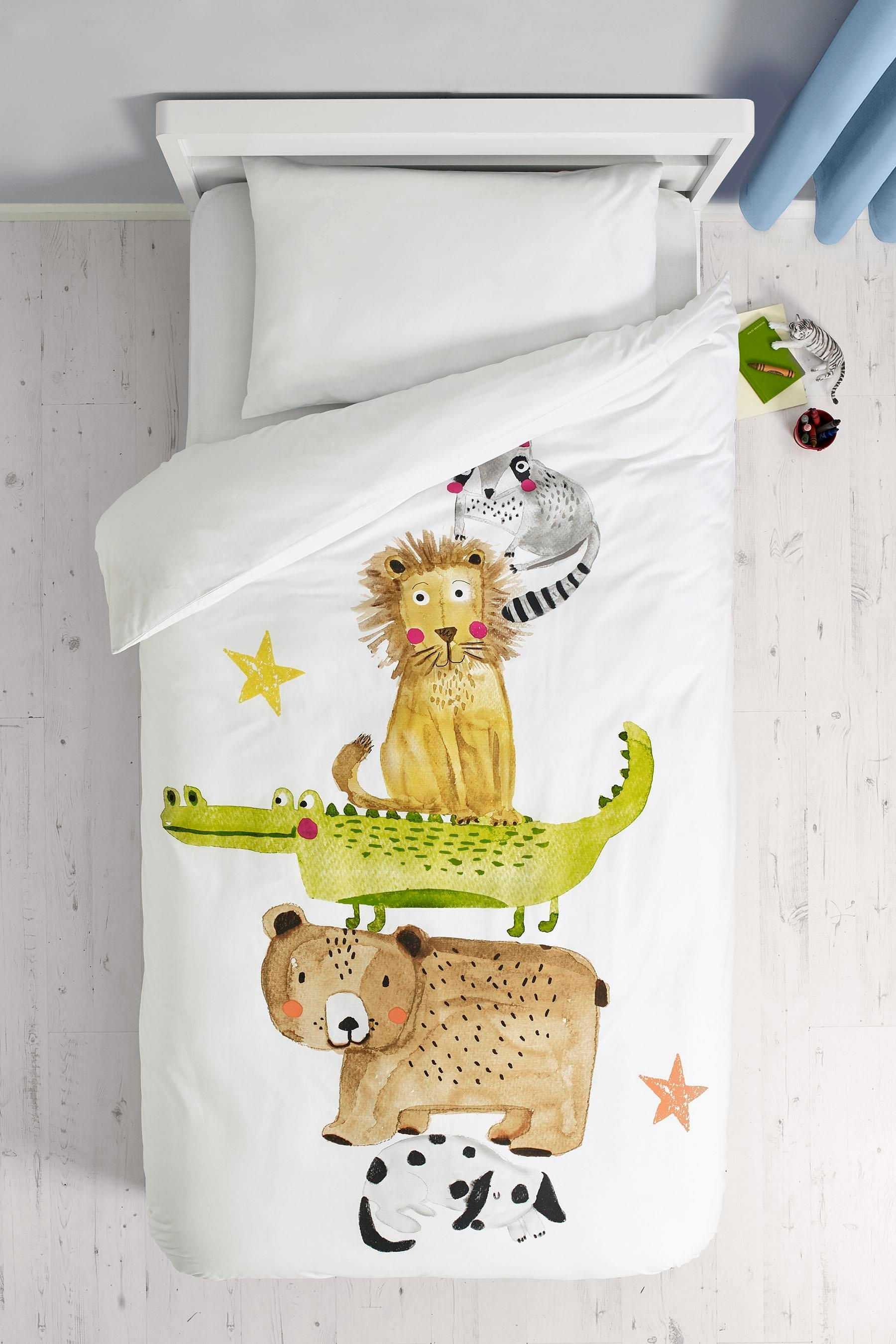 סט מצעים כיפי עם חיות בNext Best duvet covers, Animal