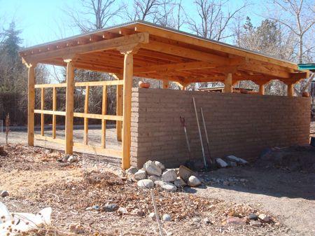 Adobe Carport With Trellis For Growing From Sunstone Farm Blog Farm Southwest Style Carport