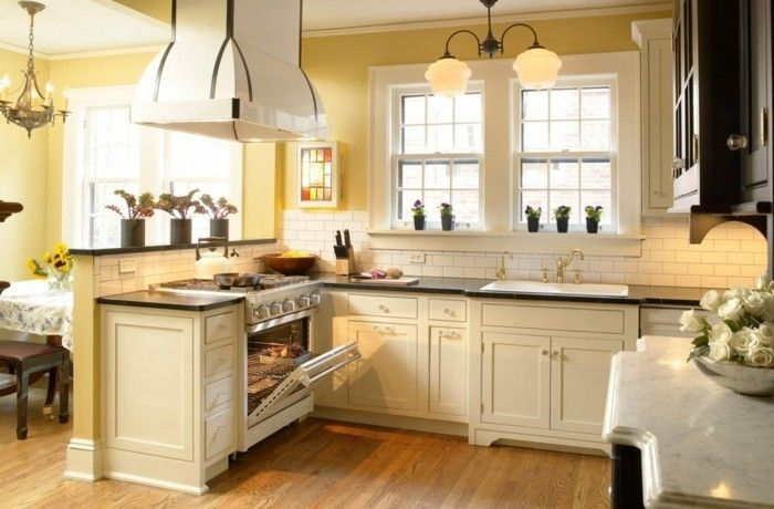 Kitchendeleteideascreamkitchencabinetspaleyellowwallsjpg - Light grey kitchen cabinets with yellow walls