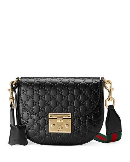 d275d88a75a5 Gucci Padlock Medium Guccissima Curved Crossbody Bag | Fashion ...