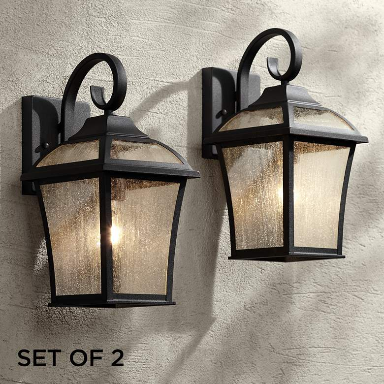 Set Of 2 Mosconi 15 High Black Outdoor Wall Lights 1n896 Lamps Plus With Images Outdoor Wall Light Fixtures Outdoor Light Fixtures Black Outdoor Wall Lights