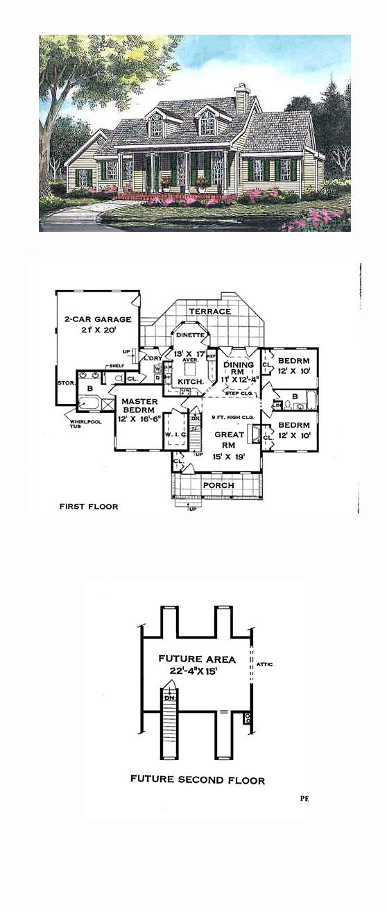 Cape cod country traditional house plan 99672 for Classic cape cod house plans