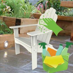how to clean plastic adirondack chairs for your patio outdoor rh pinterest com