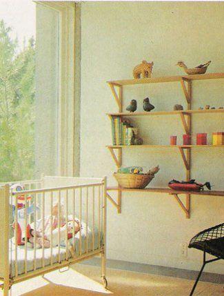 clean lines. vintage nursery.