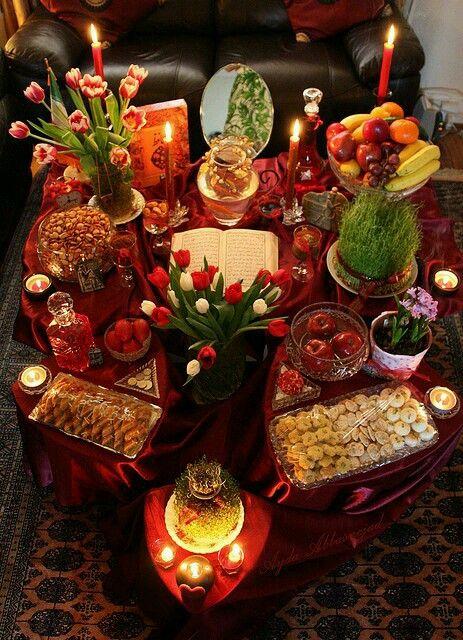 ﻋﻴﺪ ﺑﺎﺳﺘﺎﻧﻲ ﻧﻮﺭﻭﺯ ﻣﺒﺎﺭﻙ Haft Seen Nowruz Persian
