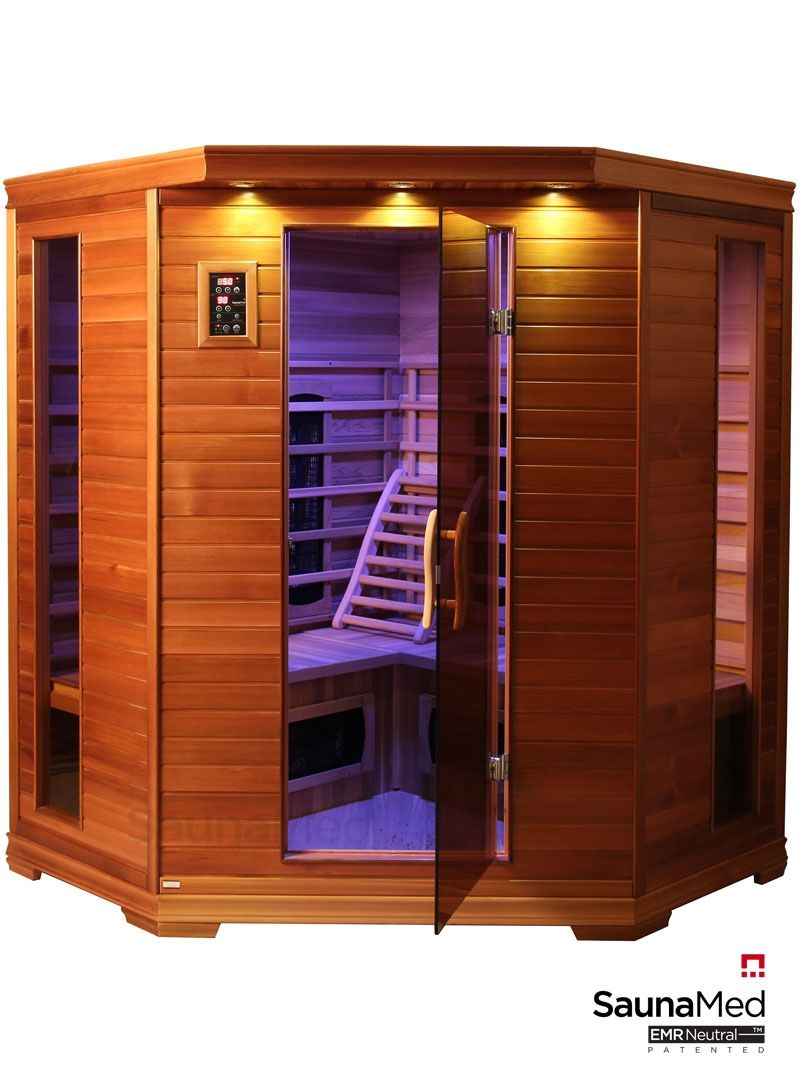 Sauna Extérieur Finlandais 4 6 Person Luxury Cedar Far Infrared Sauna Aqualinesaunas