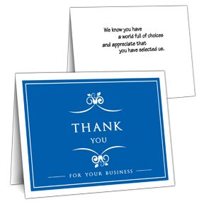 Blue Business Thank You Card On Sale  Escrow    Business